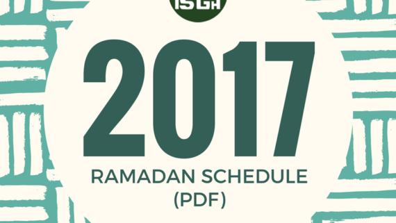 DOWNLOAD THE ISGH 2017 RAMADAN CALENDAR / May 22, 2017